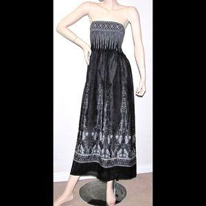 Lapis Anthropologie Convertible Dress Maxi Midi